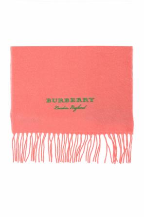 Cashmere scarf with a logo od Burberry